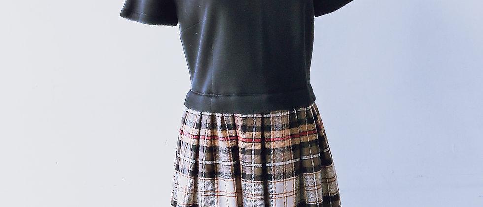 黑色/格紋連身裙