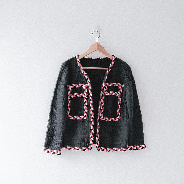 飾辮針織外套