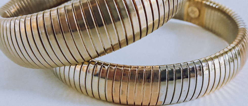 Metal link bangles