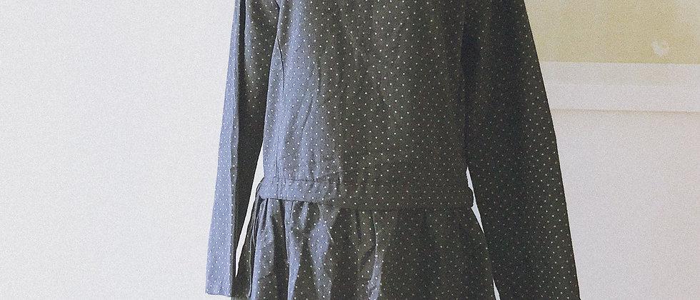 Dotted denim dress