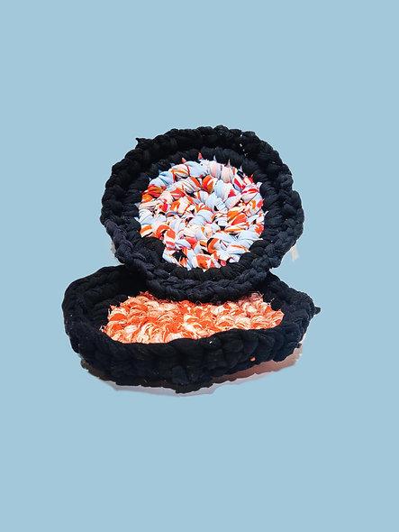 Marble crochet pot holder