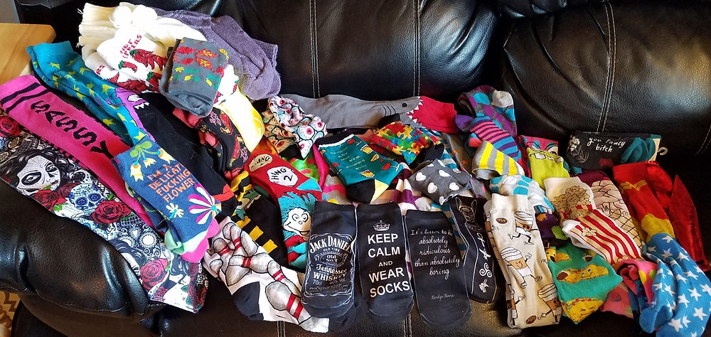 Anna's current sock collection