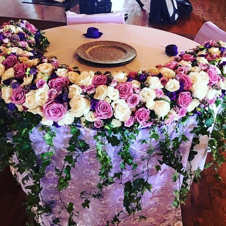 purple and white sweetheart