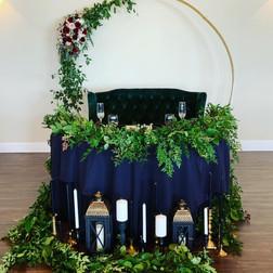 Greenery sweetheart table