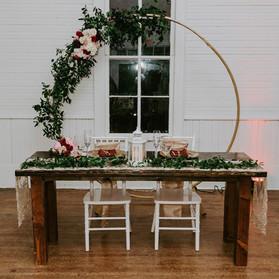 NYE sweetheart table