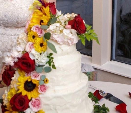sunflower cake cascade