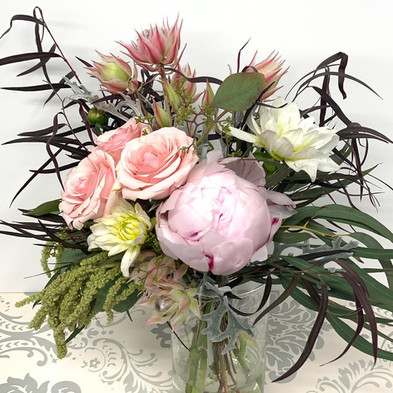 Eclectic mix peony and chocolate