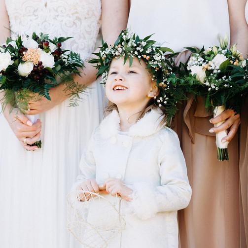 Sweet flower girl crown