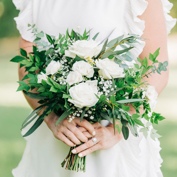 white and green elopement