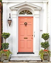 CORAL PAINTED FRONT DOOR.jpg