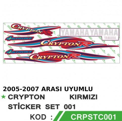 YAMAHA CRYPTON R STİKER ÇIKARTMA ETİKET SETİ İTHAL