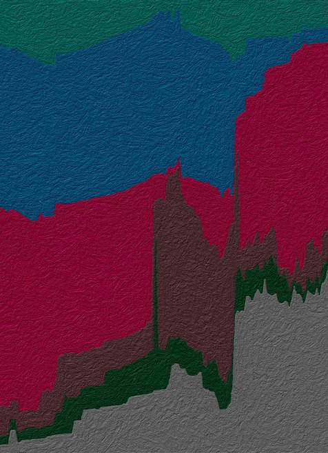 Abstract Data Art - World under different political regimes