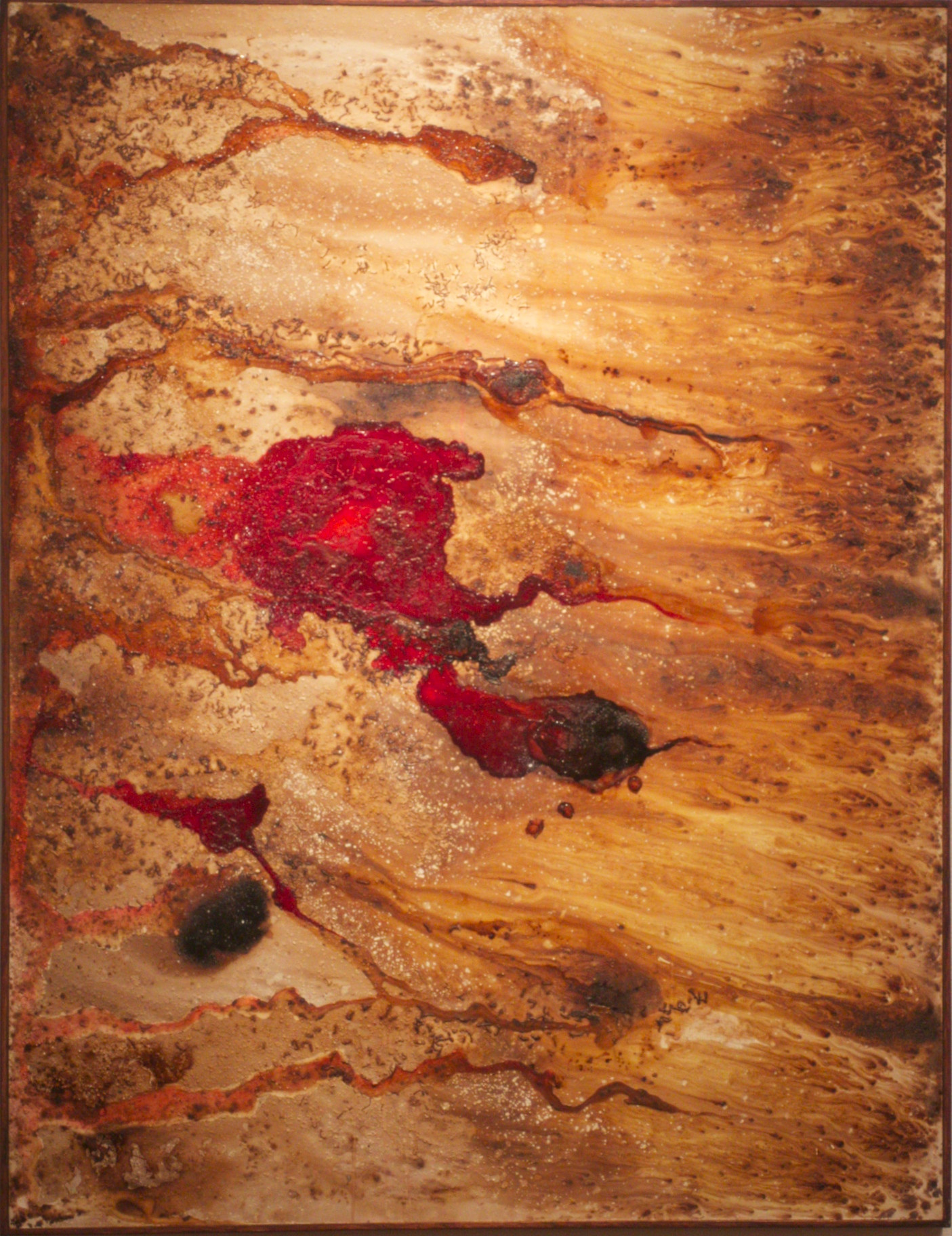 """2015 Wood Panel 50"""" x 45"""" x 1.5""""  Available $600"""