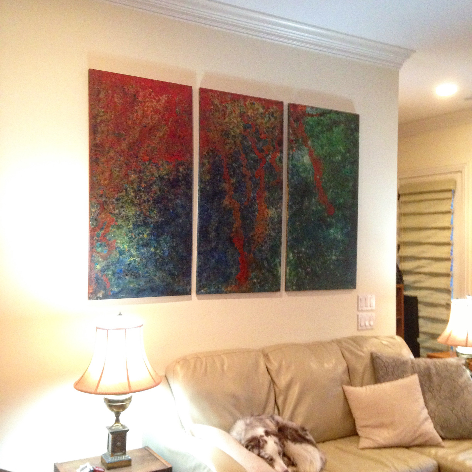 """2013 Wood Panel series of 3  48"""" x 24"""" x 1"""" each  Unavailable"""