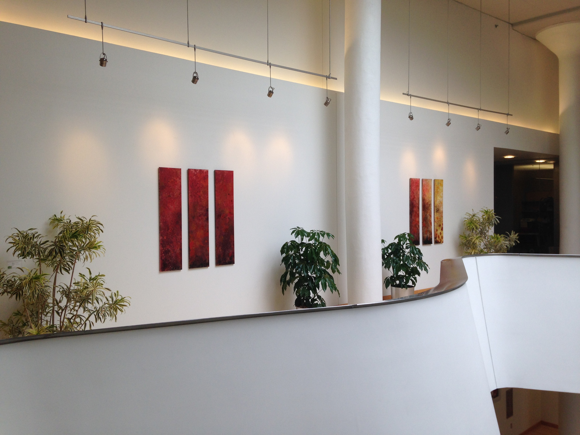 "2013  Series of 6 48"" x 12"" x 1"" each  2013 Wood Panel Series of 6 48"" x 12"" each  Novartus Cambridge, Massachusetts 2013  Available $700"