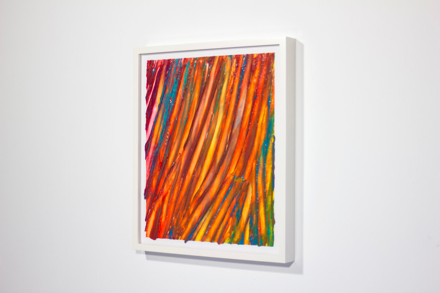"""2021  13.5"""" x 16"""" x 1.5"""" paper silicone pigment white frame  Available $150"""