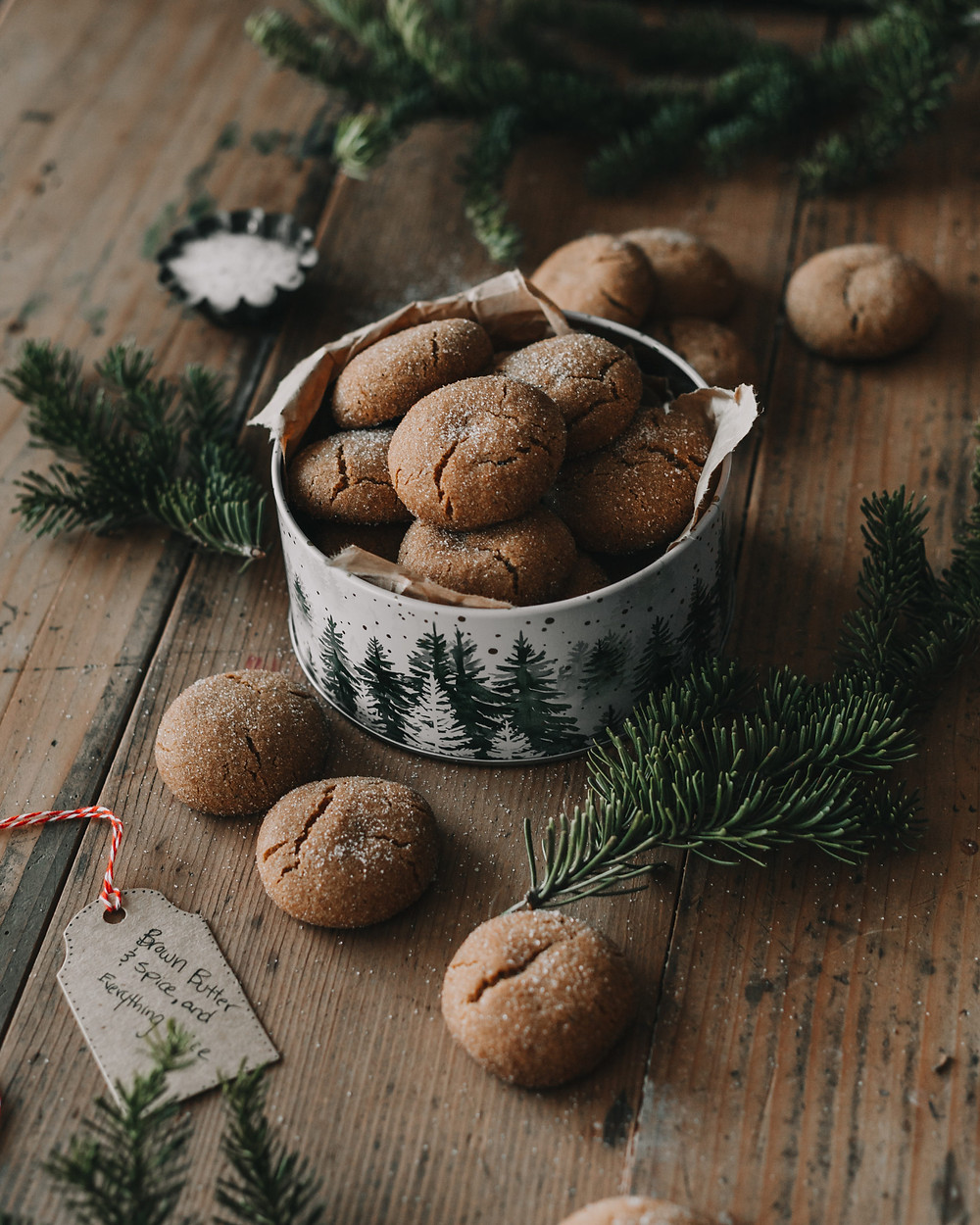 Brown Butter and Spice Cookies using Hunter Browns' Brown Butter Cubes - closeup