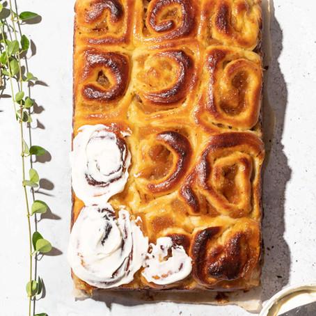Peach Brown Butter Brioche Rolls by Arosha Liny