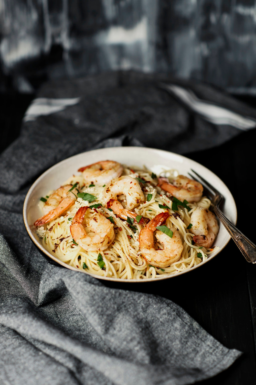 Hunter Browns Easy Brown Butter Spaghetti with Prawns