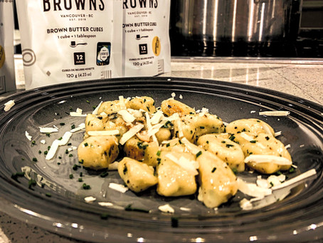 Caramelized Ricotta Gnudi with Sage, Pecorino and Hunter Browns by Chef Deniz [VIDEO]