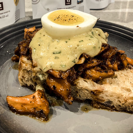 Wild Mushrooms on Brioche with Brown Butter Hollandaise and Poached Egg by Well-Seasoned [VIDEO]