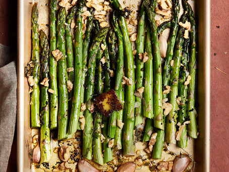 Roasted Asparagus with Brown Butter by Arosha Liny