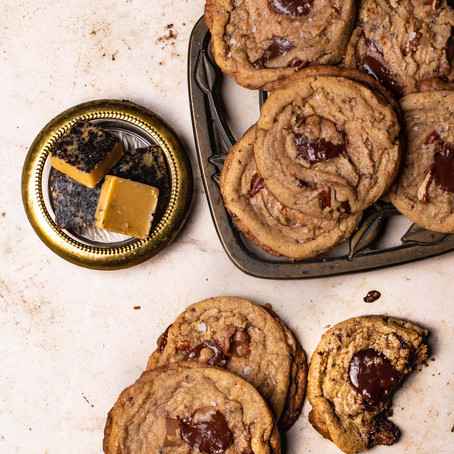 Brown Butter and Chocolate Cookies by Arosha Liny