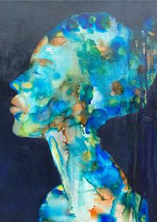 Vrouw in kleur