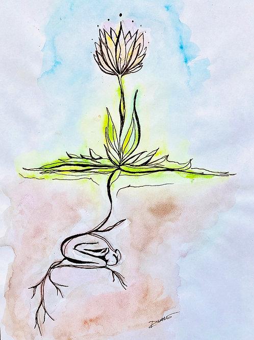 """""""No Mud No Lotus"""" Print"""