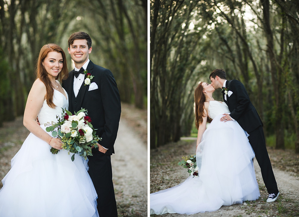 Florida Rustic Barn Wedding Bride and Groom