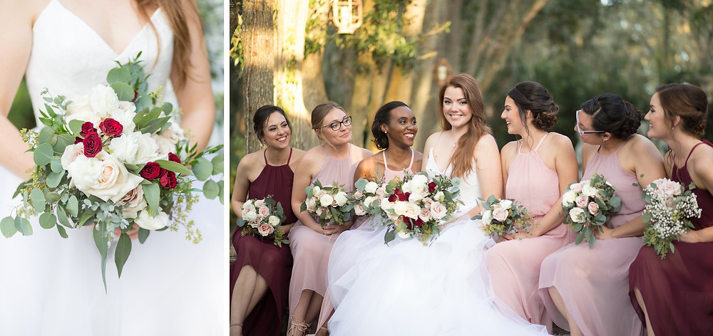 Florida Rustic Barn Wedings Bridal Party