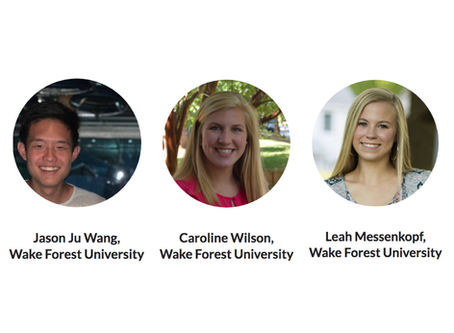 Summer Interns from Wake Forest University