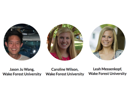 Summer Interns from Wake Forest University