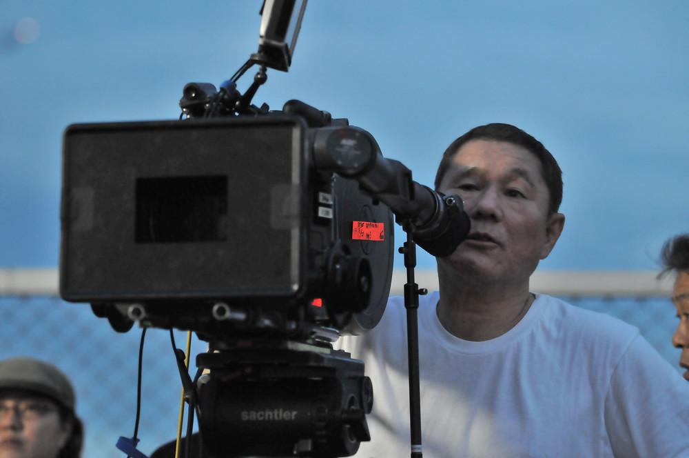 Takeshi Kitano, detrás de las cámaras.
