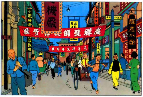 tintin en china
