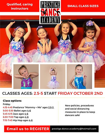 Classes ages_ 2.5-5 start Friday October