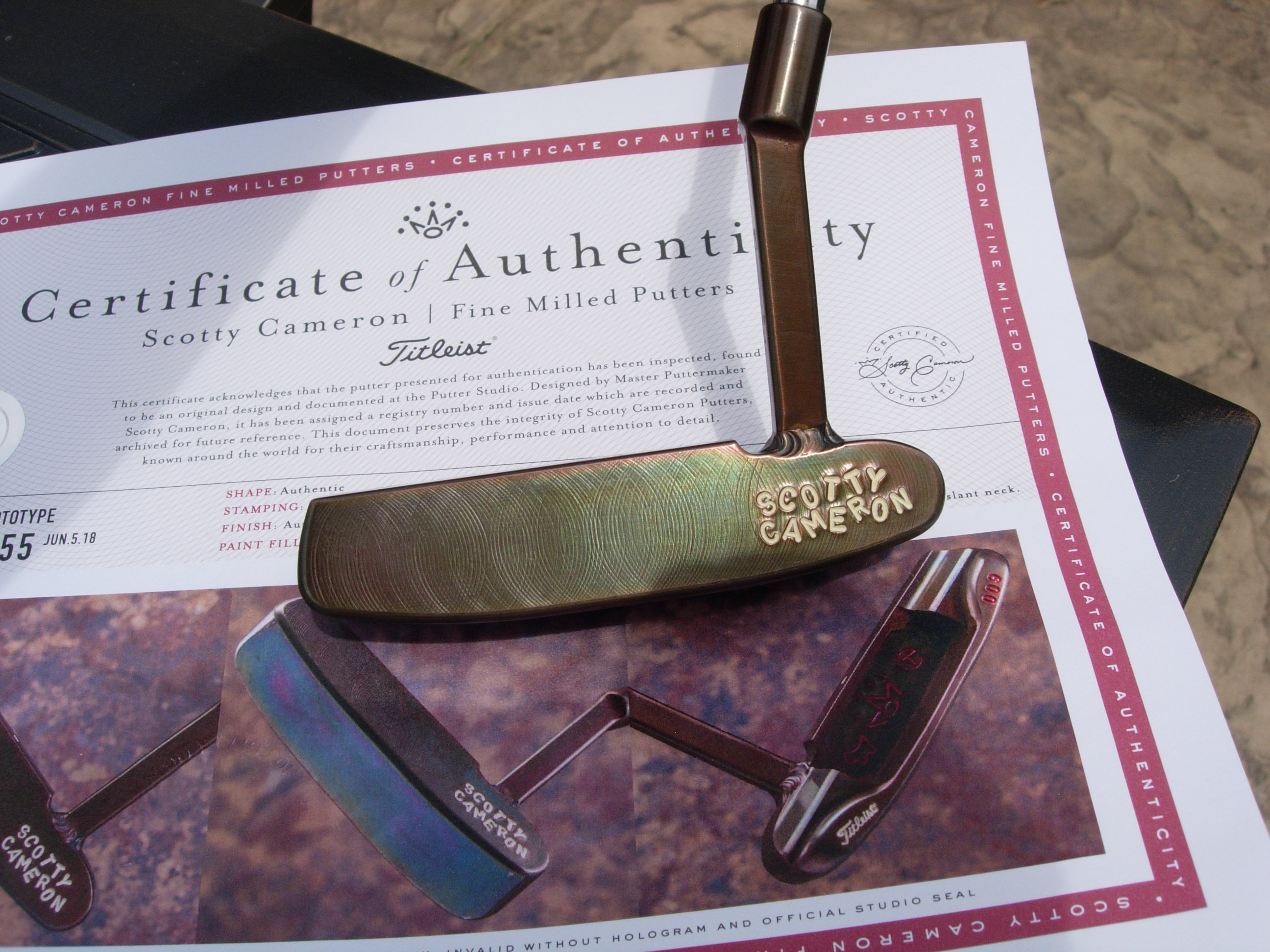 Scotty Cameron Circle T Tour 009 Handstamped Oil Can Midslant Putter