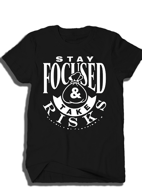 "T. Villa x District 81 collab ""Stay Focused & Take Risk"" Shirts"