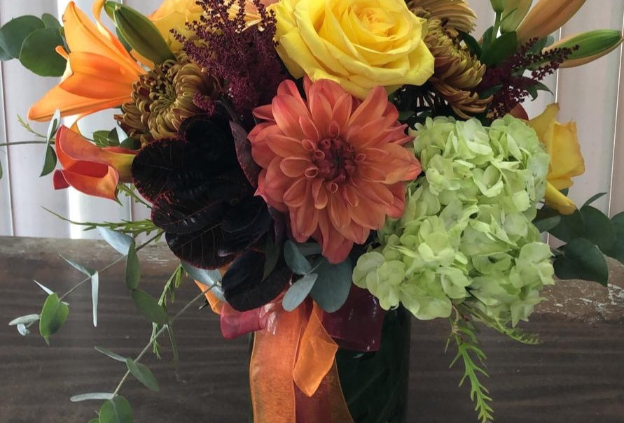Fall Arrangement in a Vase