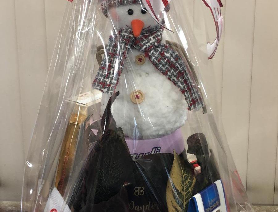 Snowman Gift Basket