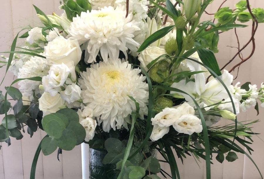 Vase Arrangement - All White