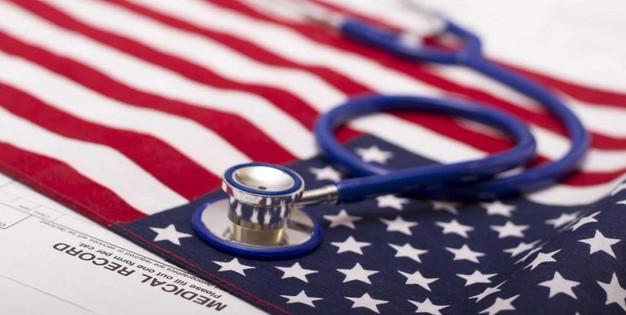 США флаг и Стетоскоп