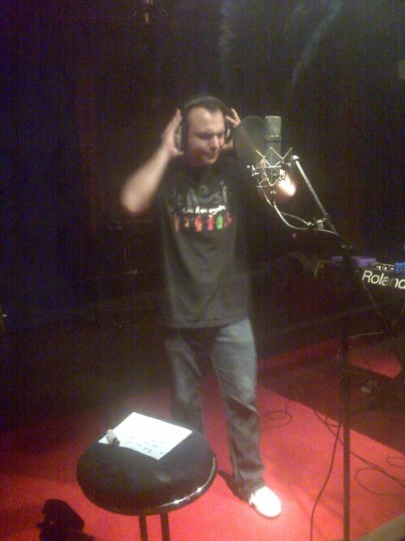 Dagobert Wiss tracking vocals