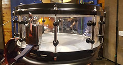 The snare made of glass!