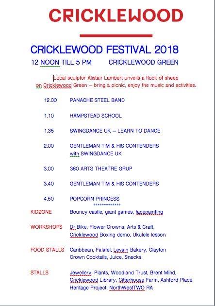 Cricklewood fest 2018