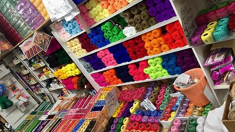 Wool, Embroidery cotton, Raffia