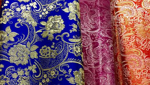 Brocade floral fabric