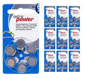 Упаковка 10 блистеров батареек для слуховых аппаратов № 675 (PR 44) ExtraPower