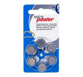 Батарейки для слуховых аппаратов № 675 (PR 44) ExtraPower