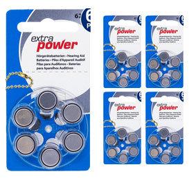 Комплект 5 блистеров батареек для слухового аппарата № 675 (PR 44) ExtraPower